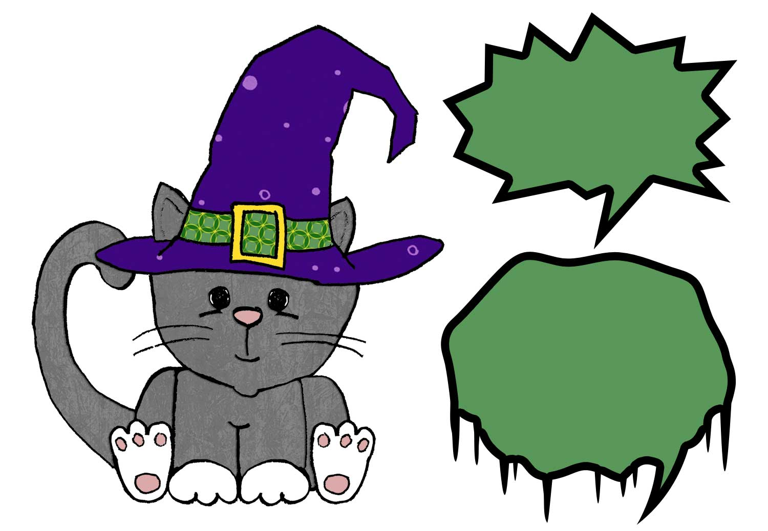 eri doodle designs and creations: Meow says the Halloween kitty