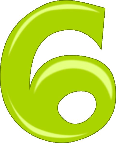 Number 6 clip art - vector clip art online, royalty free & public ...