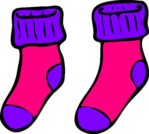 Pink Purple Sock clip art - vector clip art online, royalty free ...