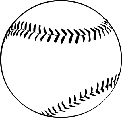 Black And White Baseball Clipart - ClipArt Best