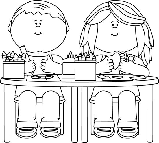 Kids Sharing Clipart Black And White on Clip Art  Pinterest