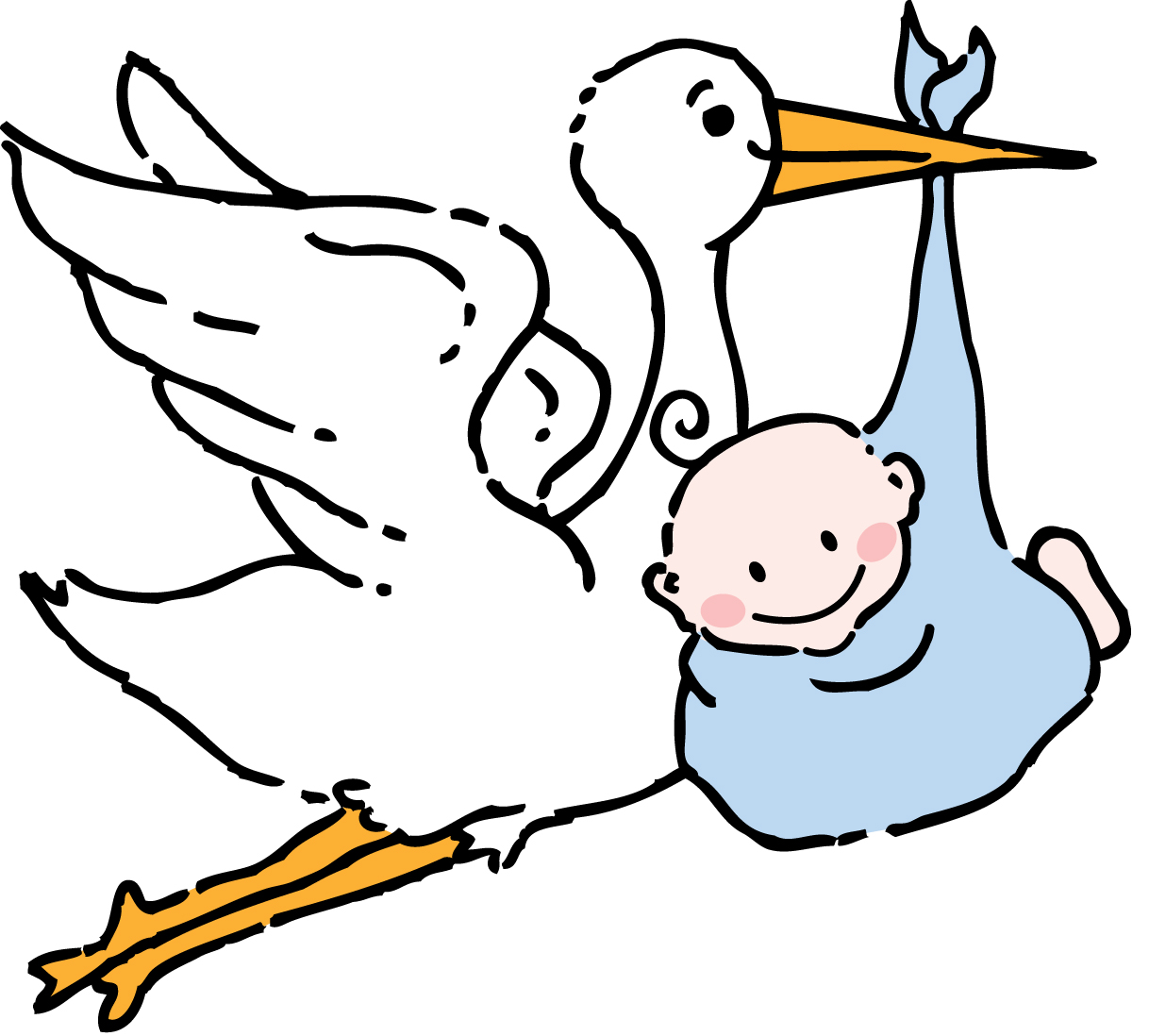 baby boy clip art coloring pages - photo #11