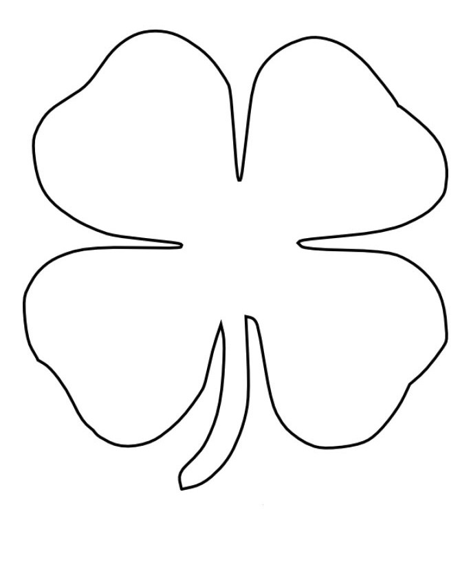Four Leaf Clover Good Coloring Page - Spring Day Coloring Pages ...