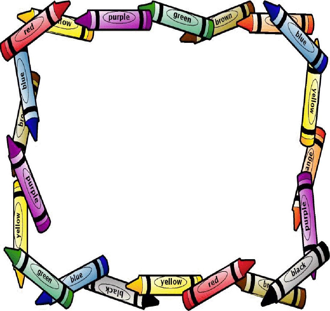 School Page Border on Shape Theme For Preschool