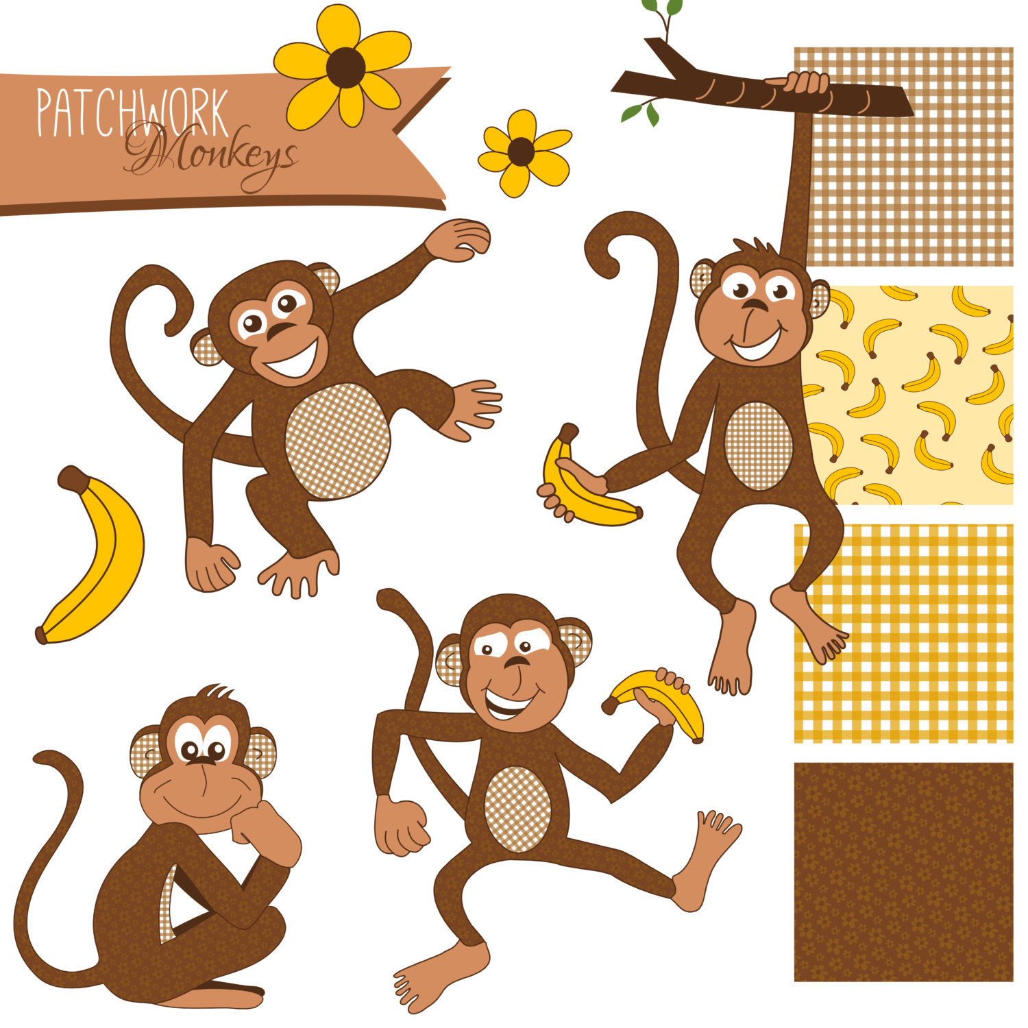 Cute Cartoon Monkey - Cliparts.co
