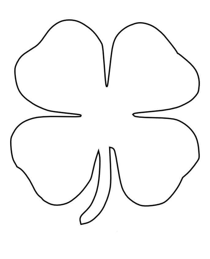 It is a picture of Candid 4 Leaf Clover Printable