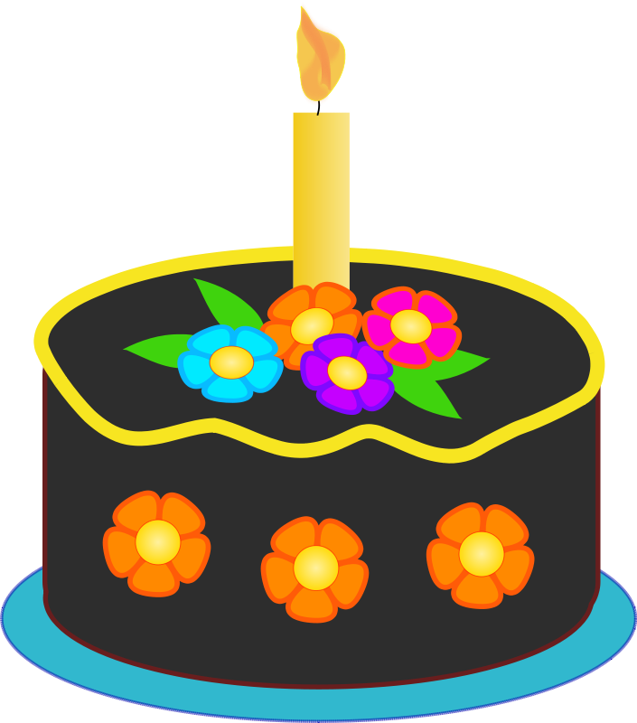 Happy Birthday Cake Clip Art Vector Png and Gif | 2! Happy Birthday