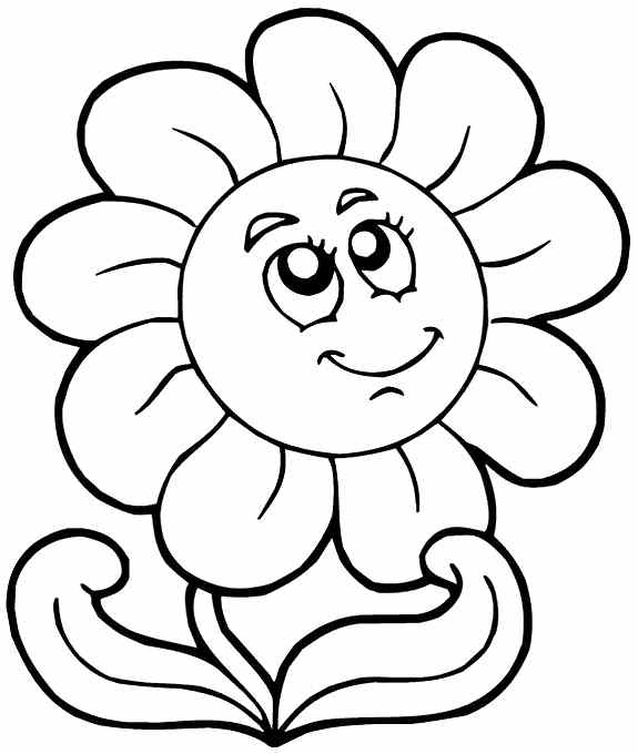 Sunflower Coloring Pages Kids