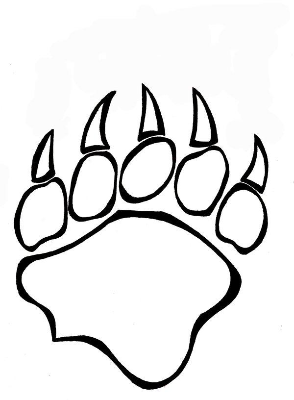 Paw Print Outline Clip Art