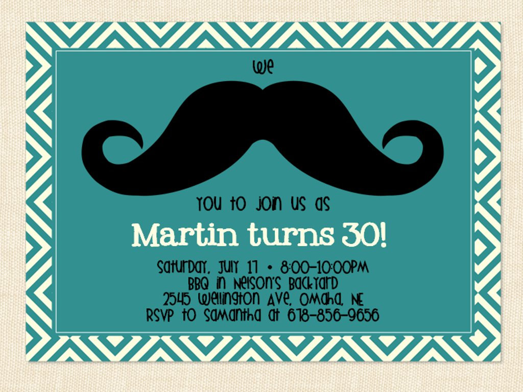Free Printable 30th Birthday Invitations For Men With Best