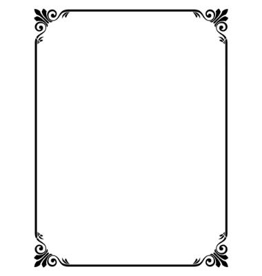 Simple Border Frame Design - ClipArt Best