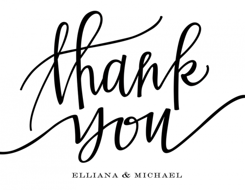 How To Write Thank You In Calligraphy