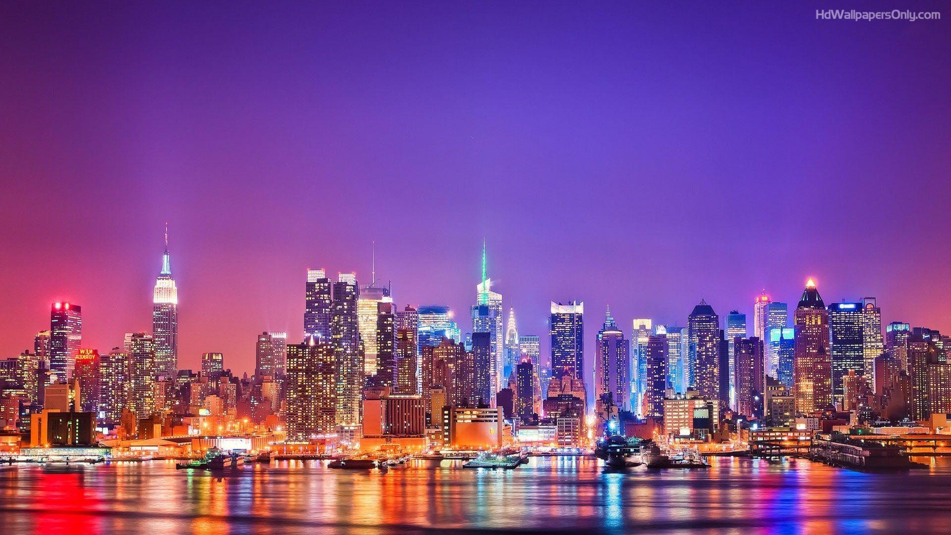 skyline new york. Black Bedroom Furniture Sets. Home Design Ideas