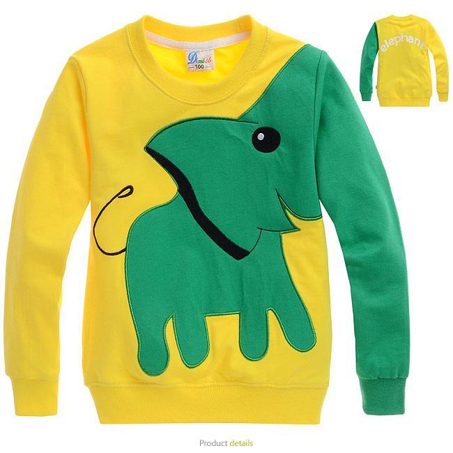 Cartoon boy t for Yellow t shirt for kids