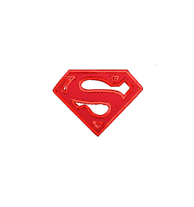 Superman Logo Applique | Mockingbird Marketplace