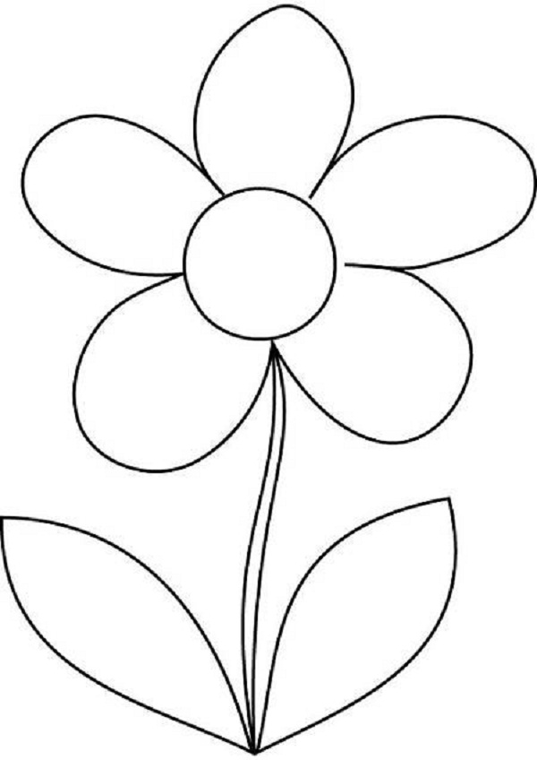 Flower Colouring Pages For Children