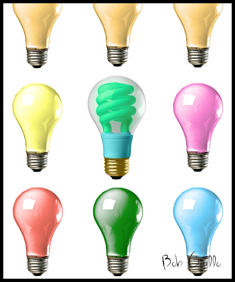 Picture of light bulbs for Colored light bulbs