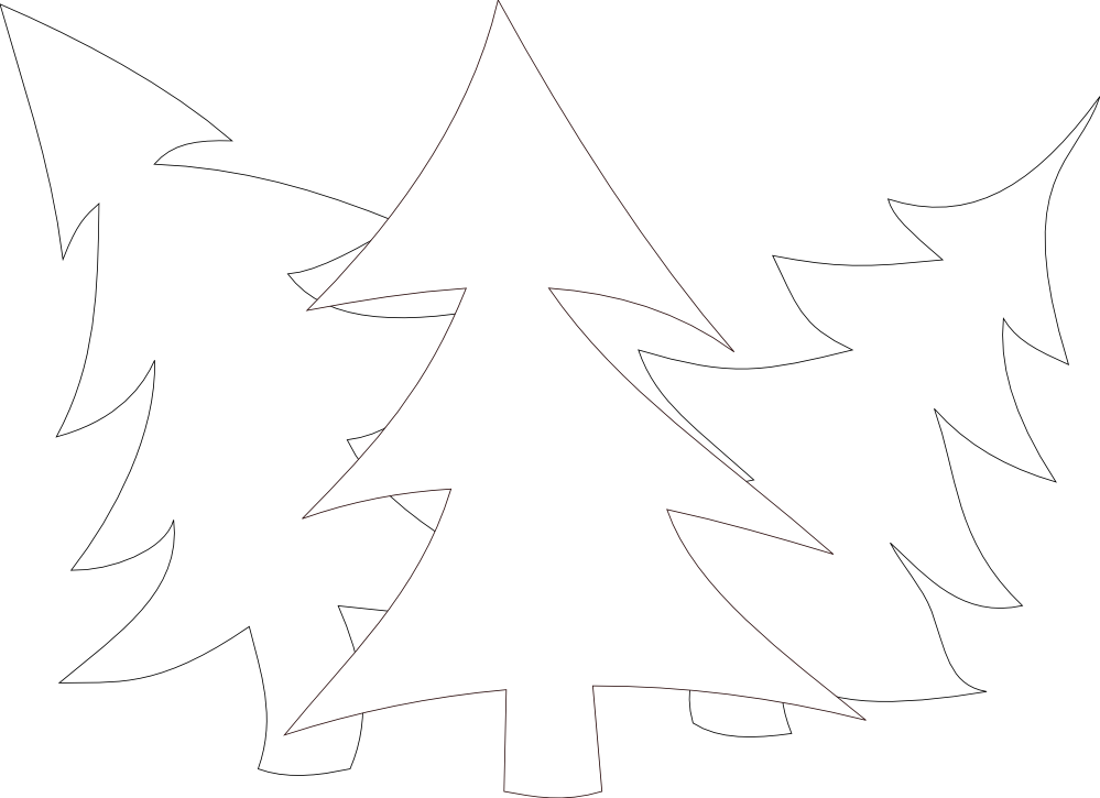 evergreen tree coloring pages - photo#46