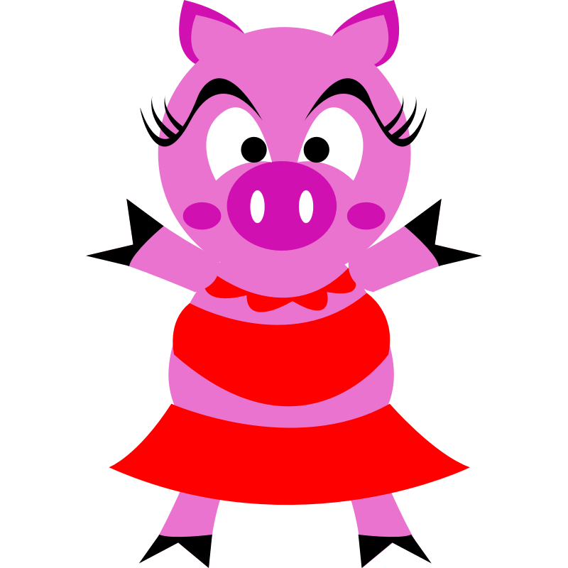 free clip art pink pig - photo #27