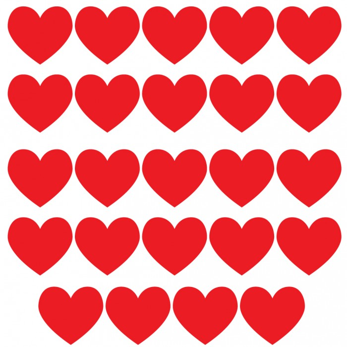 It's just a picture of Playful Printable Red Hearts