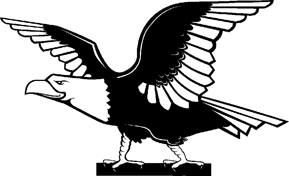 clipart   Practica Technical  Eagle Wings Spread Clipart Black And White