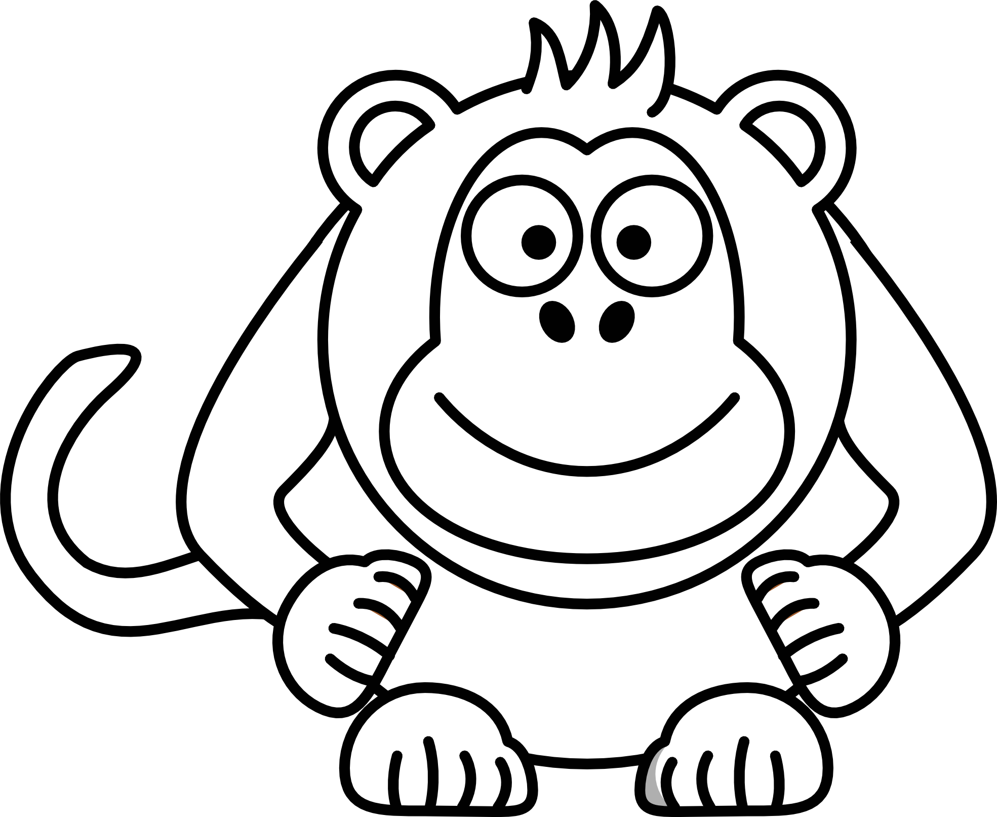 Line Drawing Monkey Face : Monkey cartoon drawings cliparts