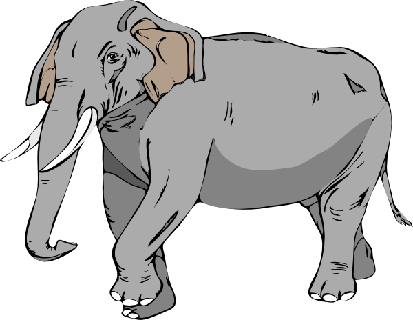 Black And White Elephant Clip Art at Clker.com - vector clip art ...