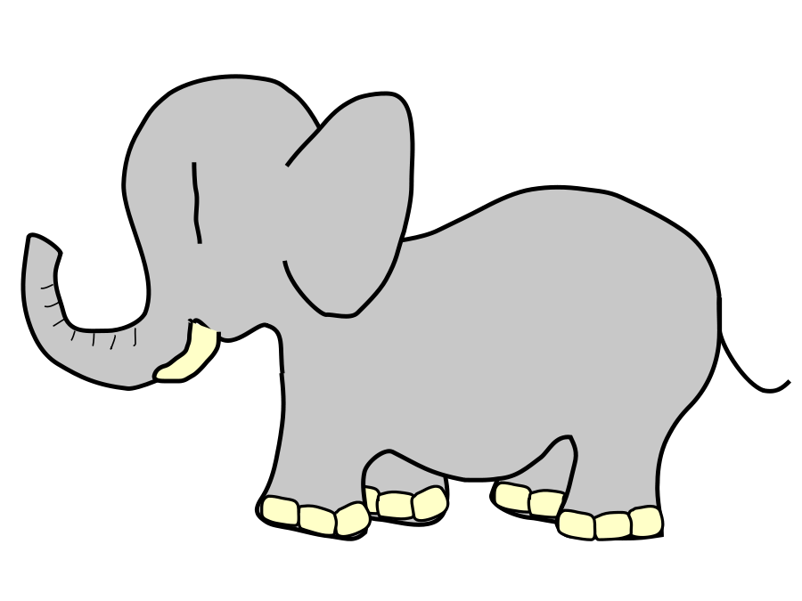 Elephant Clipart, vector clip art online, royalty free design ...