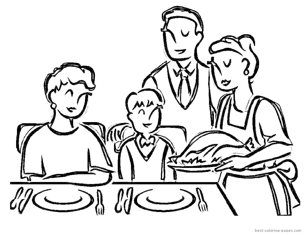 dinner table coloring page - photo #19