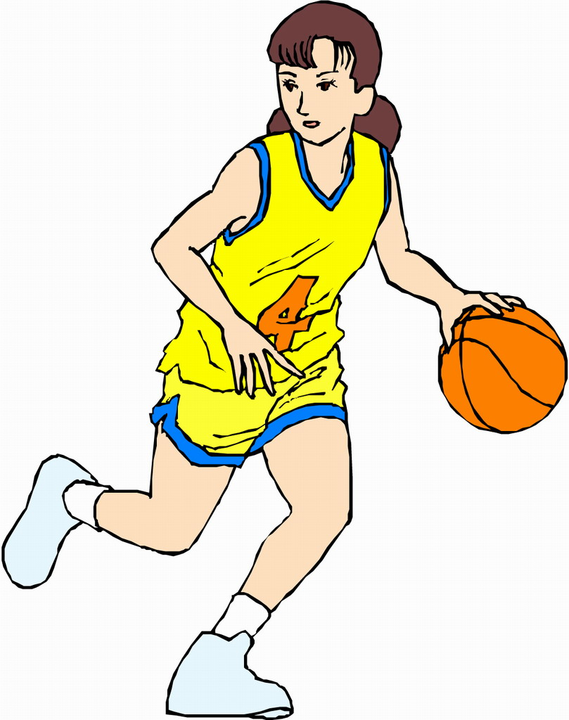 Cartoon With Basketball Player