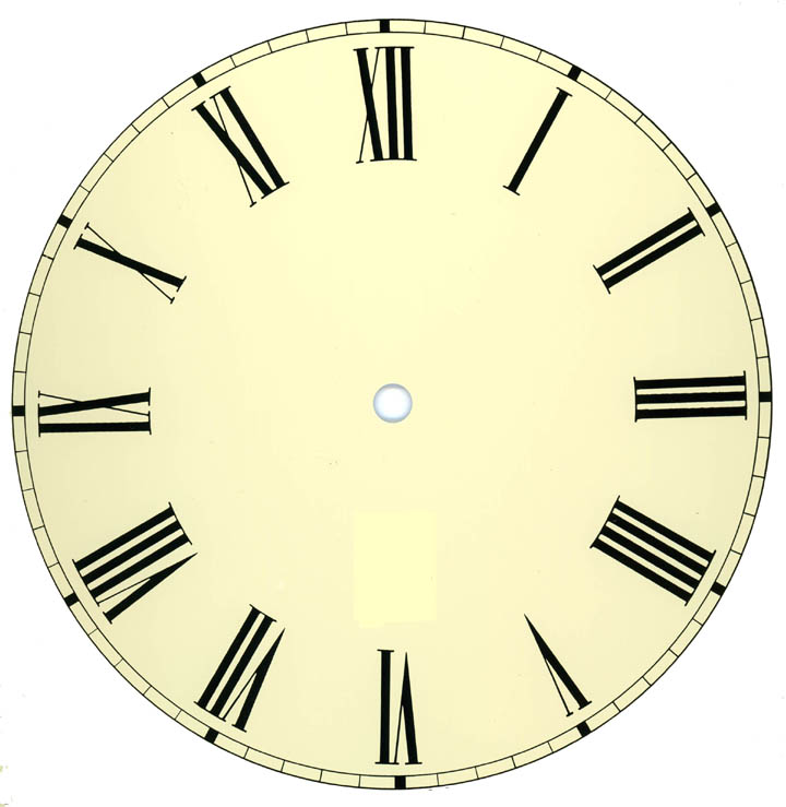 clock face templates for printing - clock hands clip art