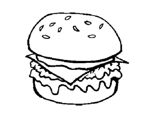Free Coloring Pages Of Burger And Fries Cheeseburger Coloring Page