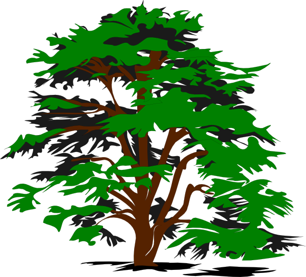 Simple Tree clip art - vector clip art online, royalty free ...