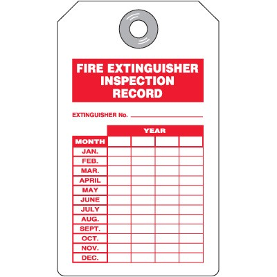 Printable fire extinguisher signs for Fire extinguisher inspection tag template