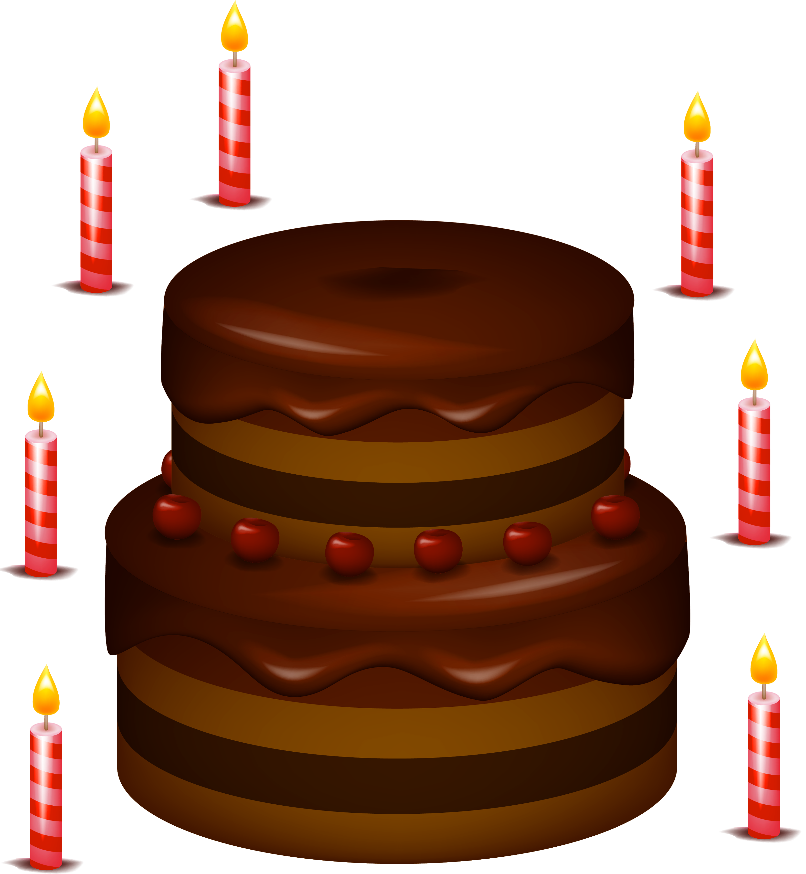 Chocolate Cake Clipart : Chocolate Cake With Candles PNG Clipart - Cliparts.co