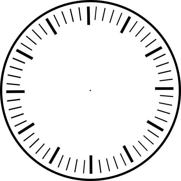 Analog Clock Without Hands - Cliparts.co