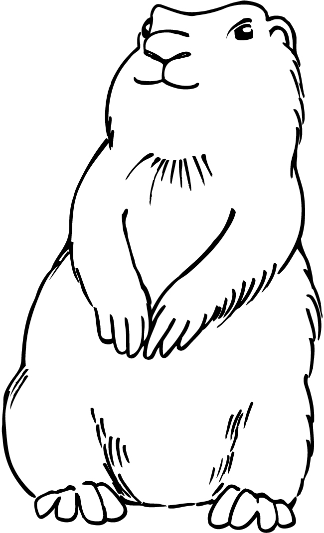 Coloring Pages Prairie Animals : Prairie dogs colouring pages page cliparts