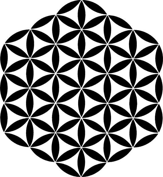 Sacred Geometry Mandala art Flower of Life Meditation map