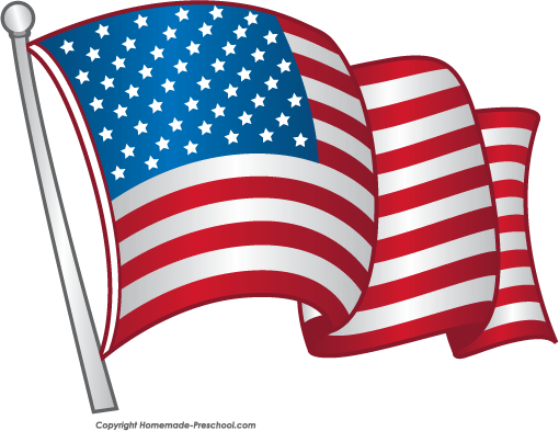 free animated clip art american flag - photo #3