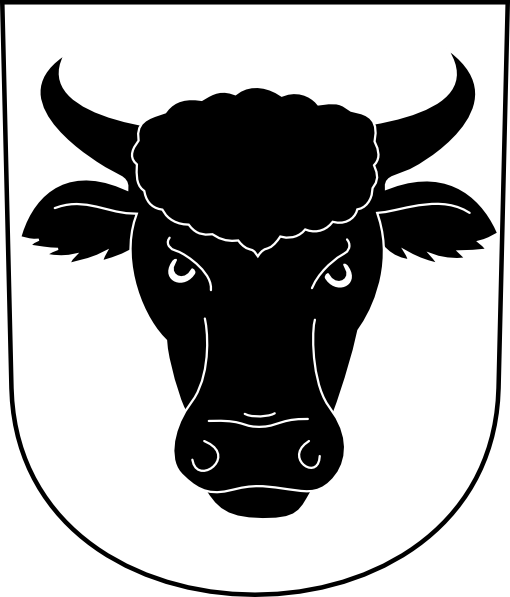 Cow Bull Horns Wipp Urdorf Coat Of Arms clip art Free Vector / 4Vector