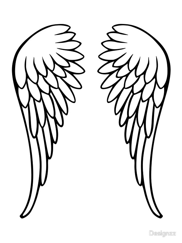 angel wings template outline - photo #25