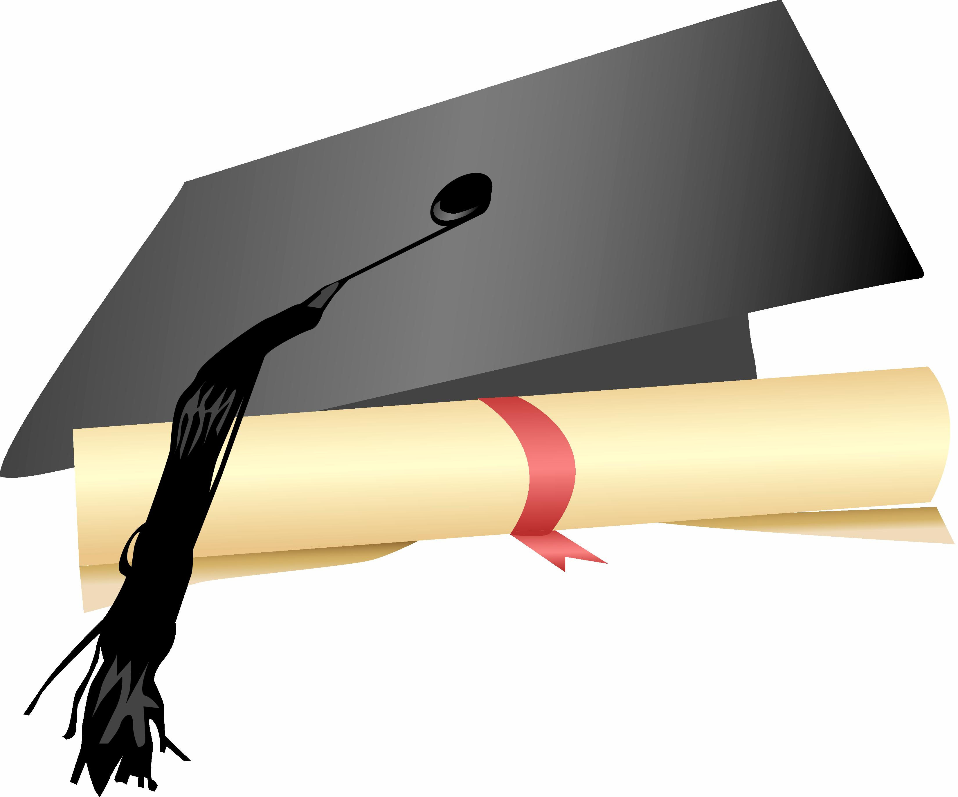 Graduation Cap And Diploma Clipart - Cliparts.co