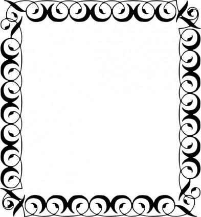 Decorative Border clip art Vector clip art - Free vector for free ...