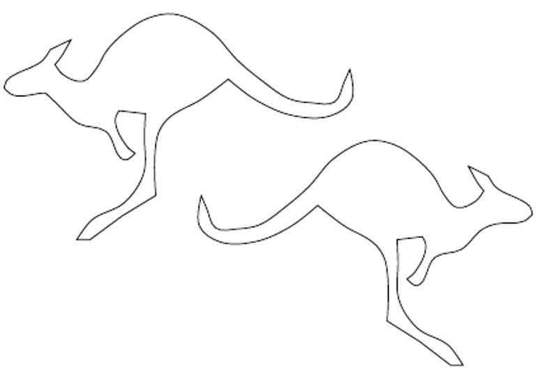Line Drawing Kangaroo : Kangaroo outline cliparts