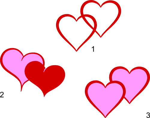 Double Heart Clip Art - Cliparts.co