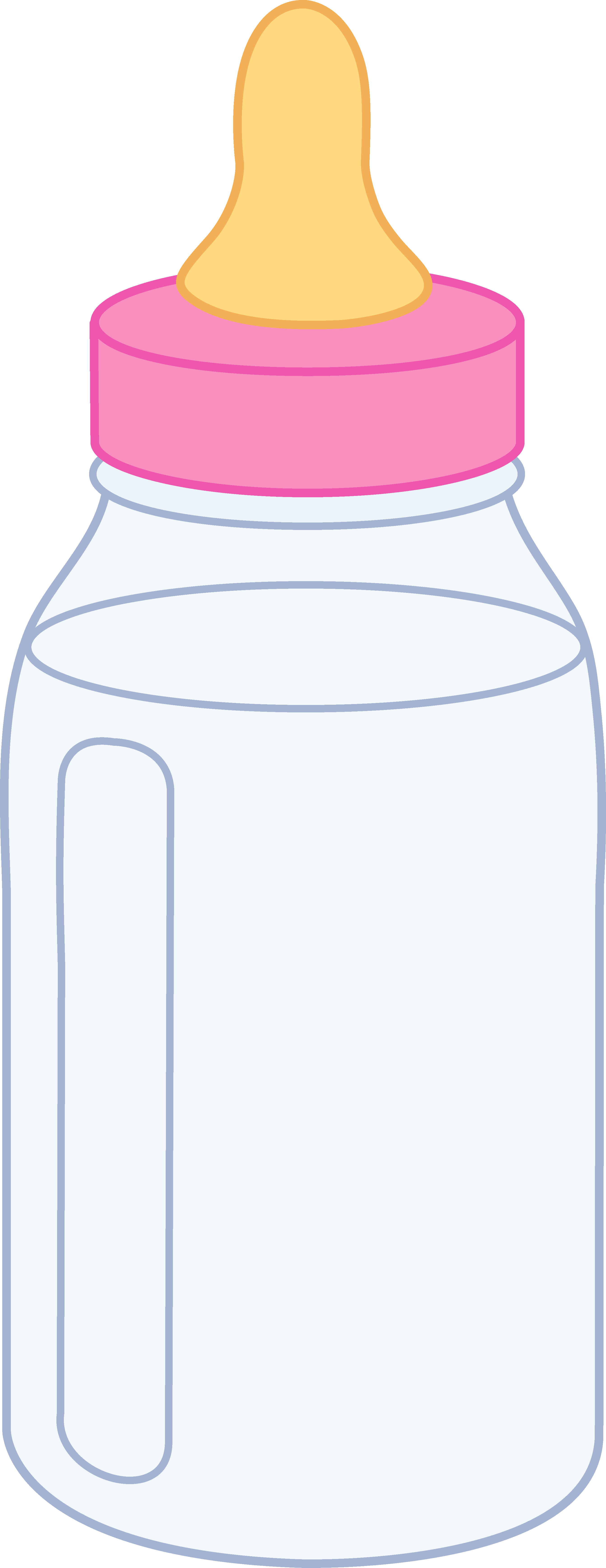 Pink Baby Bottle - Free Clip Art