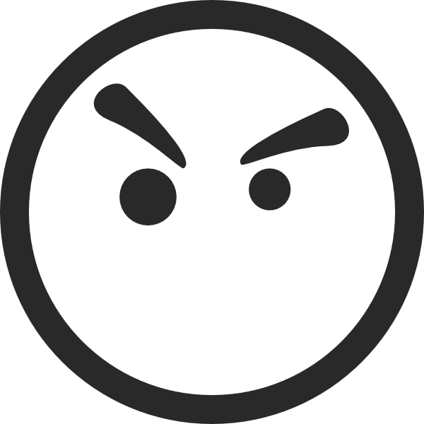 Angry Face Symbol clip art - vector clip art online, royalty free ...