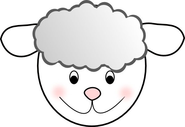 Smiling Good Sheep clip art - vector clip art online, royalty free ...