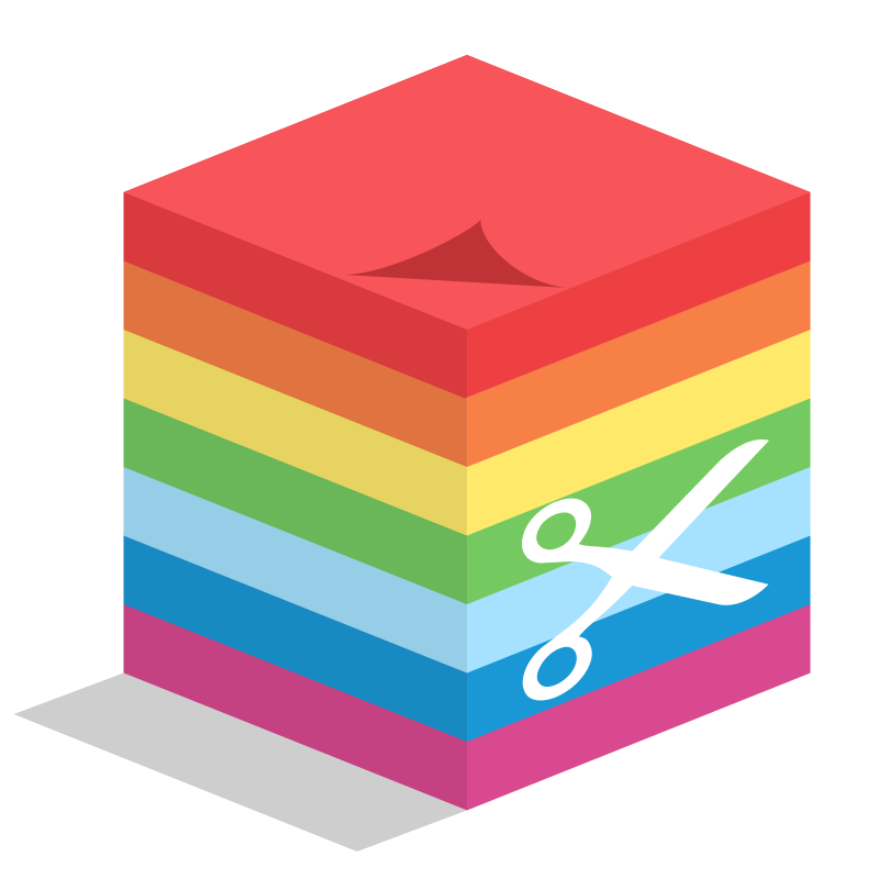 Clipart - sticky cube notes