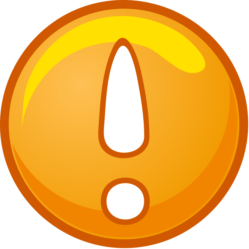 Exclamation point clipart